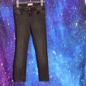 Zara- Off Black Skinny Jeans size 6